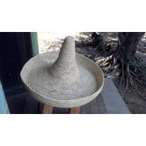 Sombrero Grande Tipo Revolucionario Hecho Con Palma Seca