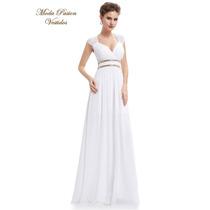 Vestido Blanco Novia De Gasa Griego Talle 3xl Moda Pasión