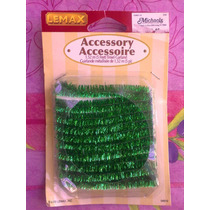 Set De Accesorio De Decoracion Verde Para Casitas Miniaturas