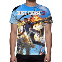 Camisa, Camiseta Game Just Cause 3 - Estampa Total