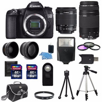 Canon 70d Kit Completo Profissional Com Lente 18-55 E 75-300