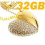 Pendrive 32gb Coração De Cristal Dourado - Já Está No Brasil
