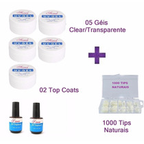 Kit Unha Gel Gel Uv Top Coat Tips