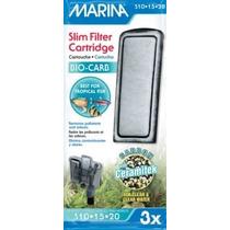 Marina Bio Carb Cartucho Para Slim Filtro Bolsa 3 Piezas