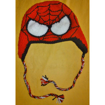 Gorros Spiderman, Batman O Zombie Tejido Al Crochet