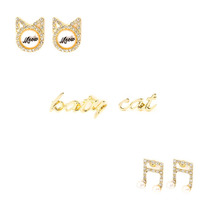Set 3 Aretes Katycat Nota Musical Katy Perry Claires