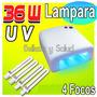 Lampara Uv 36 Watts Uñas Acrilico Gel Decoracion Gelish 36w