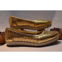 Zapatos Chatitas Ballerinas De Cuero Linea Confort