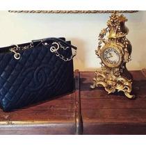 Autentica Chanel Shopper Blue Original Em Caixa Frete Free