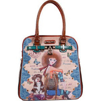 Nicole Lee Nikita Print Satchel Bag