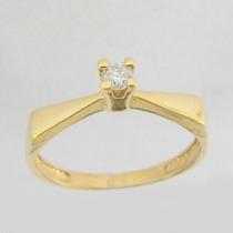 3052 Anel Solitário Com Diamante De 10 Pontos Extra