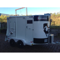 Reboque Carreta Para Dois Cavalos Com Cozinha E Banheiro