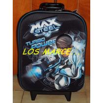 Max Steel Mochila Con Carrito 12 3d Original Footy Mattel