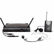 Microfone Sem Fio Lyco Uh01hli Headset + Lapela Auricular