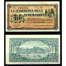 Si-son-4 Billete De Guaymas Sonora De 10 Centavos