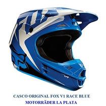 Casco Enduro/cross Fox V1 Race Blue Original Offroad Atv
