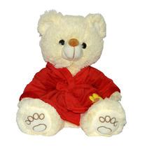 Urso Ursinho Pelúcia 30cm Presente Alta Qualidade C/ Roupão