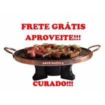 Fondue Kit 37 Cm Com Rechaud E Chapa De Carne Pedra Sabão!!