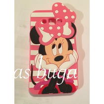 Funda Mimi Iphone 4 5 5c 6 6s Y Plus Minnie Mouse Silicon 3d