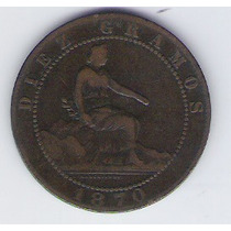 Moneda España Diez Centimos 1870