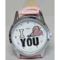 Lindo Reloj Para Dama I Love You En Oferta