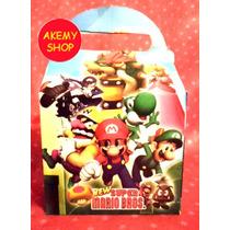 Mario Bross 50 Loncheras Cajitas Articulos De Fiesta