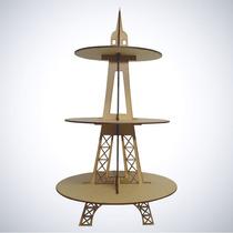 Suporte Para Doces Torre Eiffel Mdf Decoração Festa