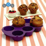 Molde Muffin X 6 Silicona Exclusivo Sistema De Coccion
