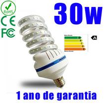 Lampada Led Milho Espiral Soquete E27 Bivolt 30w Branco Frio