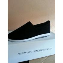 Flats Negros De Gamuza Steve Madden #3.5 Originales, Baratos