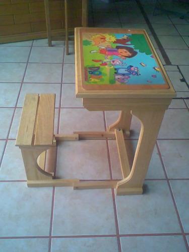 Mesa pupitre infantil madera con envio en - Pupitre infantil madera ...