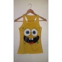 Camiseta De Bob Esponja. Talla M / Camisa Franela Strech
