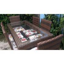 Mesa Com 6 Cadeiras Fibra Sintetica E Aluminio Nova Oerta