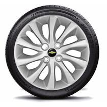 Jogo Calota Aro 15 Chevrolet Prisma 2014 C/emblema Gm 4peças