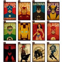 Placas Decorativas Em Mdf - Super Heróis - Marvel Dc - 30cm