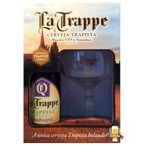 Kit Cerveja La Trappe Quadrupel 330ml + Taça 250 Ml Holandes