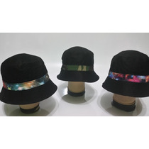 Sombreros Bucket Hat Negro - Satelite - Militar Unisex