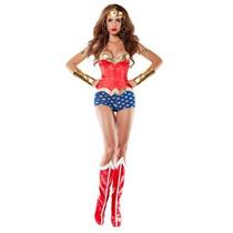 Disfraz Lujo Sexy Mujer Maravilla Adulto Wonder Woman