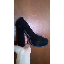 Zapatos Mujer Elegante Negros Con Taco