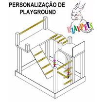 Projeto Personalizado Playground Para Calopsitas, Papagaios