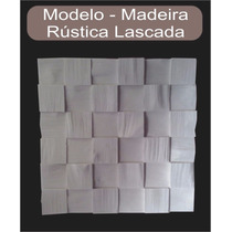 Painel Decorativo Mosaico Gesso 3d Madeira Lascada Rústica
