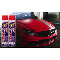 Tinta Spray Para Roda Vermelho Emborrachada Dip Plasti 500ml