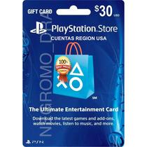 Playstation Cards U$30 P/ Juegos Ps3 Ps4 Vita En Region Usa