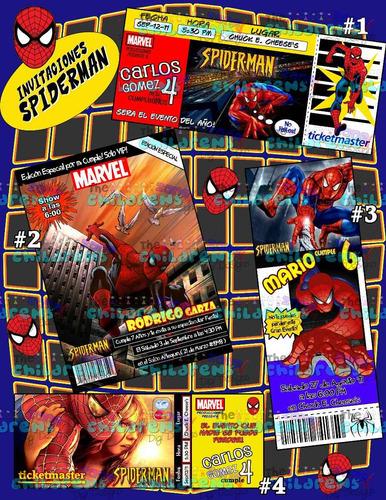 invitaciones hombre araa invitaciones spiderman avengers 10000 en mercado libre