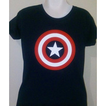 Camiseta Estampada / Batman / Iron Man / Shield / C. América