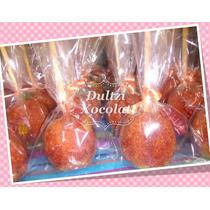 Manzanas Con Chocolate De Colores O Con Chile Para Recuerdos