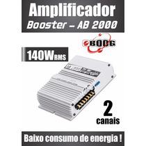 Amplificador Som Modulo Carro Boog Ab 2000 Potencia Ab2000