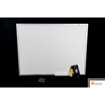 Lousa Quadro Branco Moldura De Aluminio 40x60 Cm + Brindes