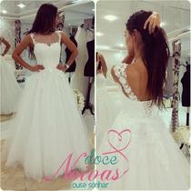 Vestido Noiva Gg Lindo Pronta Entrega Promoção