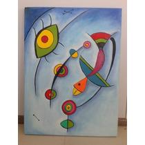 Cuadro Pintura Al Oleo De 0,80 X 0,60